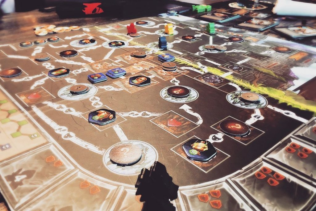Clank! Game Board Side View