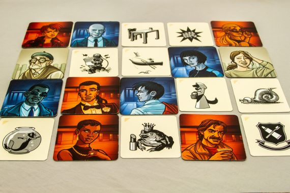 Codenames Pictures Completed Grid