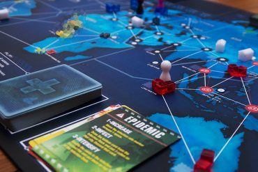 Pandemic Legacy Game Board Side View
