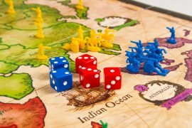 Risk Board Game Battle with Dice