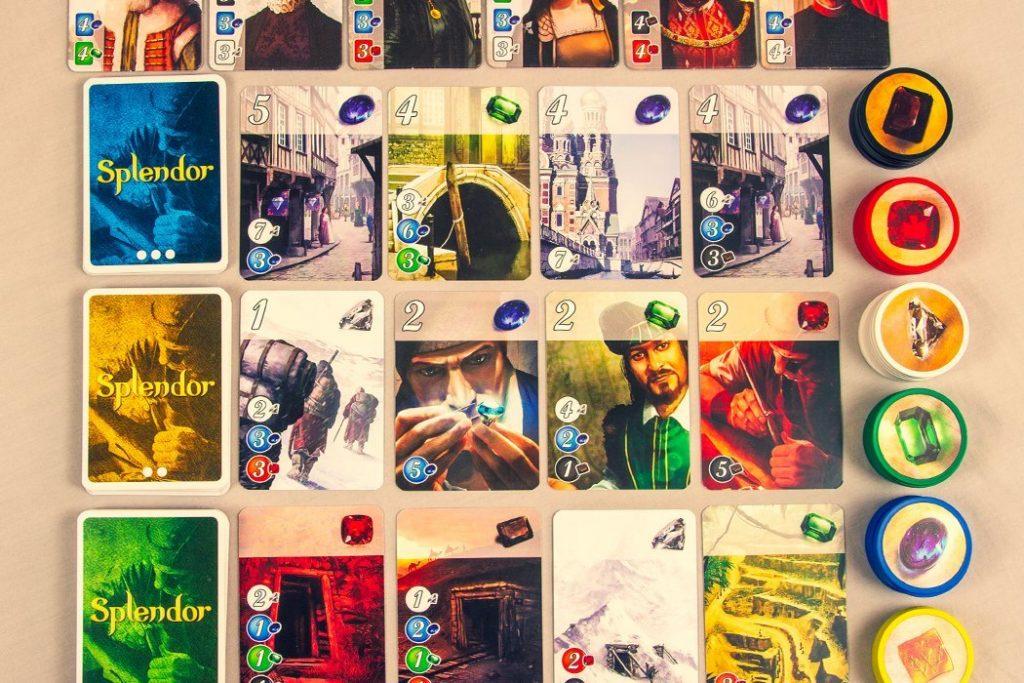 Splendor Board Game Overview Shot