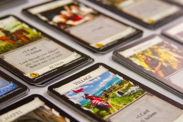 Dominion Deck Building Board Game Card Close