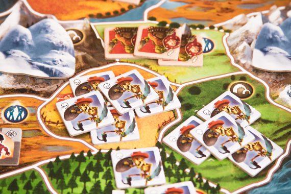 Small World Board Game Skeleton Battle