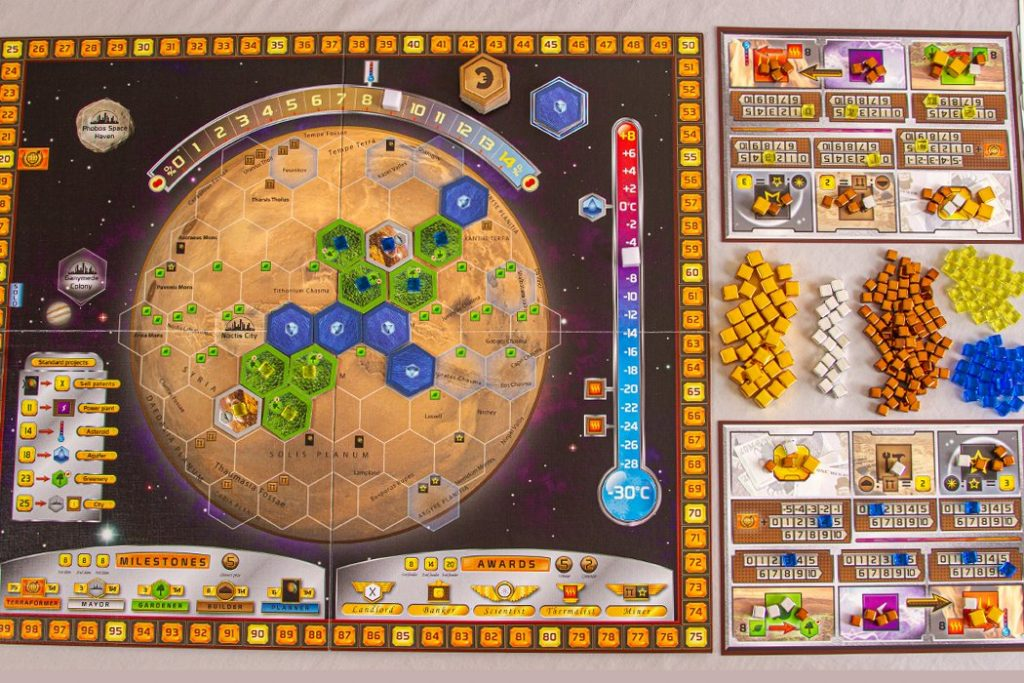 Terraforming Mars Board Game Aerial Overview