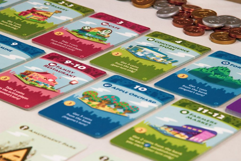 Machi Koro Board Game Card Stack