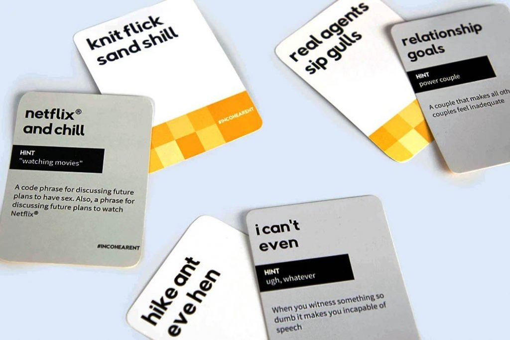 Incohearent Card Game Board Game