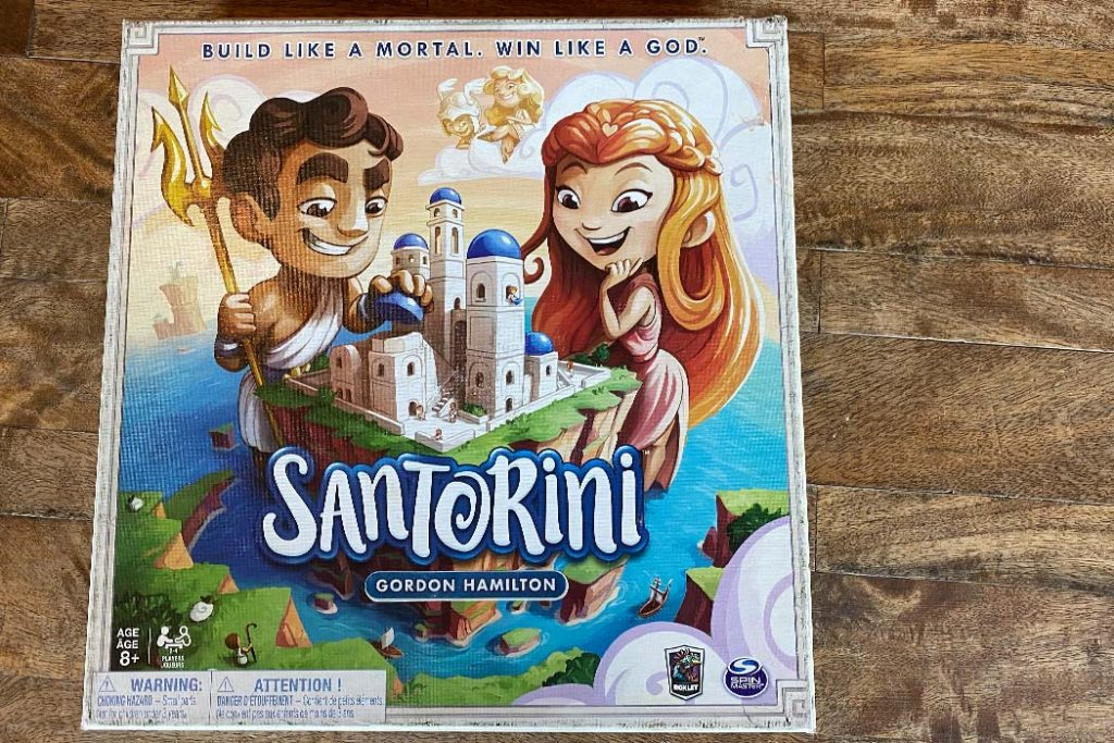Santorini Board Game Box Art