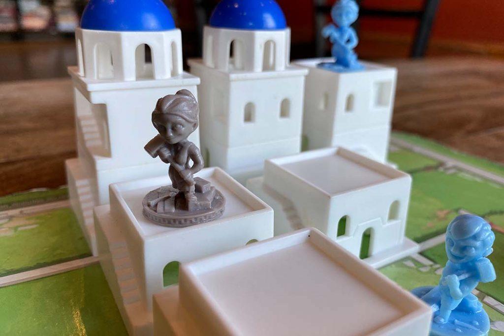 Santorini Board Game Tower Build