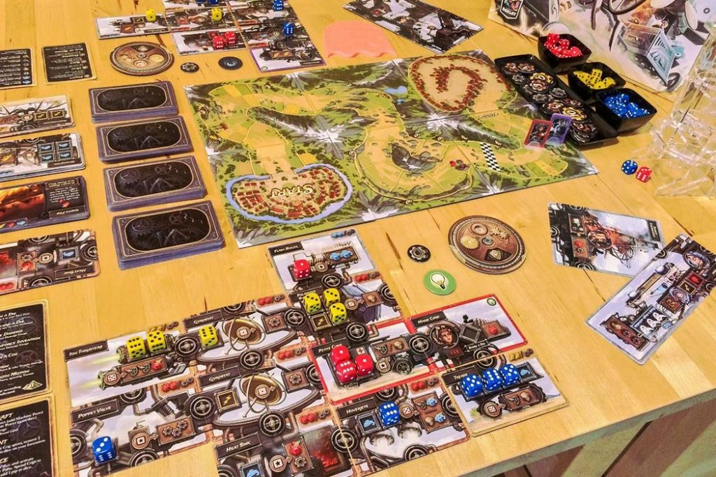 Steampunk Ralley Board Game