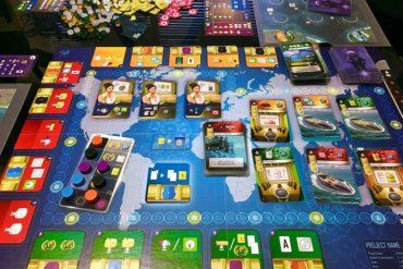 Underwater Cities Board Game Aerial