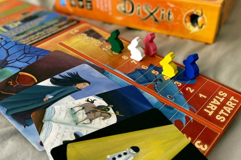 Dixit Board Game Cards and Game Board