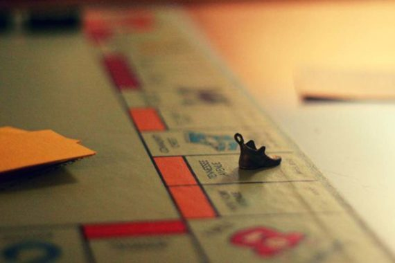 Monopoly Board Game Shoe Shadow