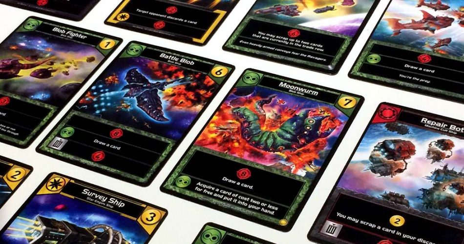 Star Realms Board Game Card Area