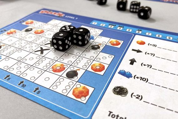 Dizzle Board Game Score Sheet
