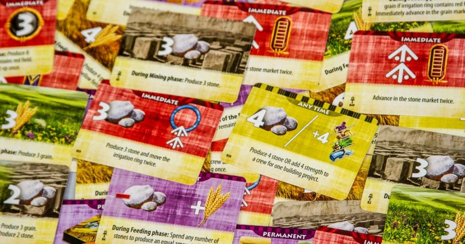 Egizia Shifting Sands Board Game Nile Cards