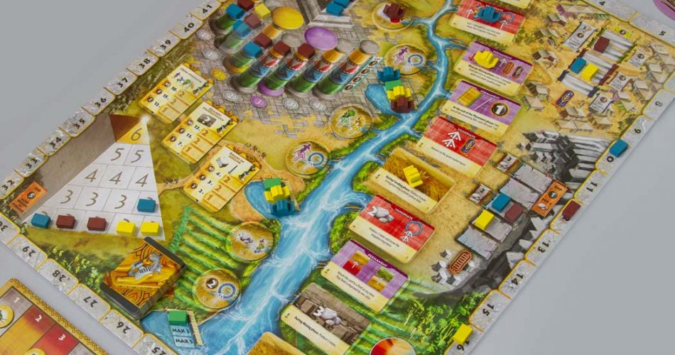 Egizia Shifting Sands Board Game Overview