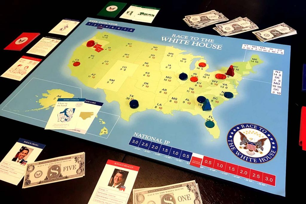 Race to the White House Board Game