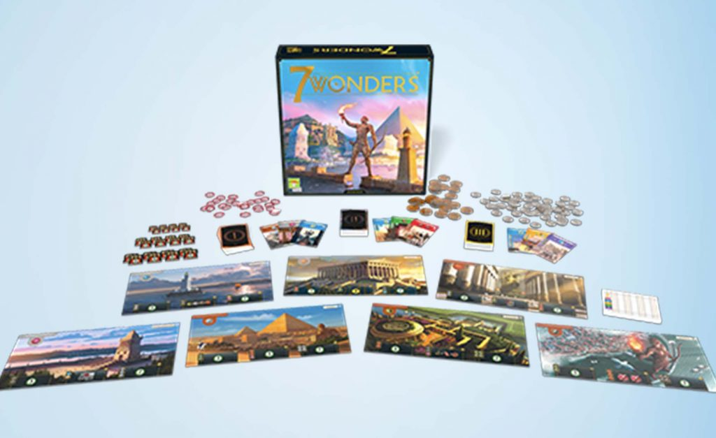 7 Wonders 2nd Edition Board Game Components
