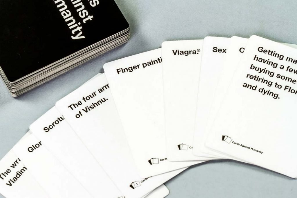 Cards Against Humanity Board Game Hand