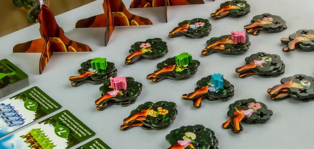 Kodama 3D Board Game Gameplay Setup
