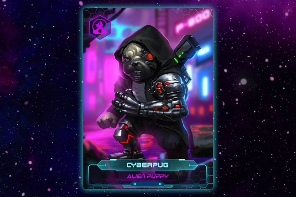 Alien Puppies Game Artwork Cyberpug