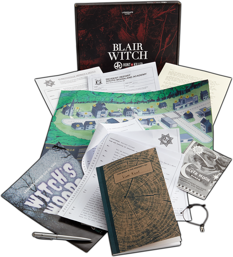 Blair Witch Board Game Components