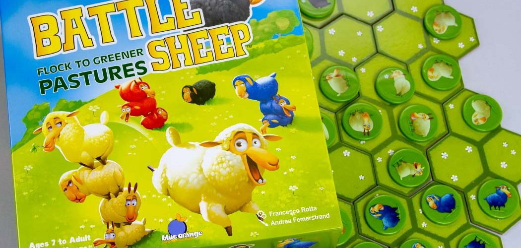 Battle Sheep Board Game Box Art Cover