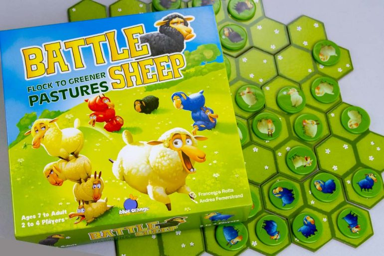 Battle Sheep Board Game Box Art Cover