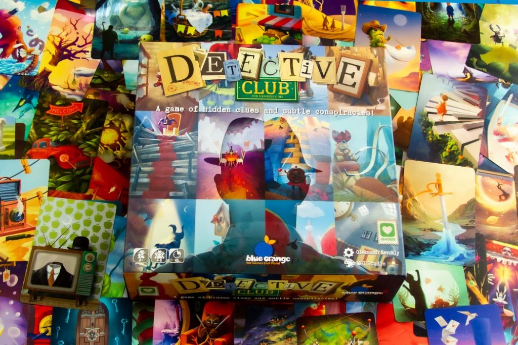 Detective Club Board Game Box Art