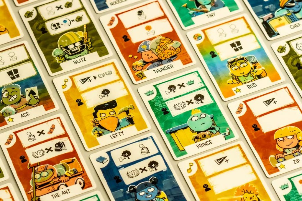 Fort Board Game Kid Cards