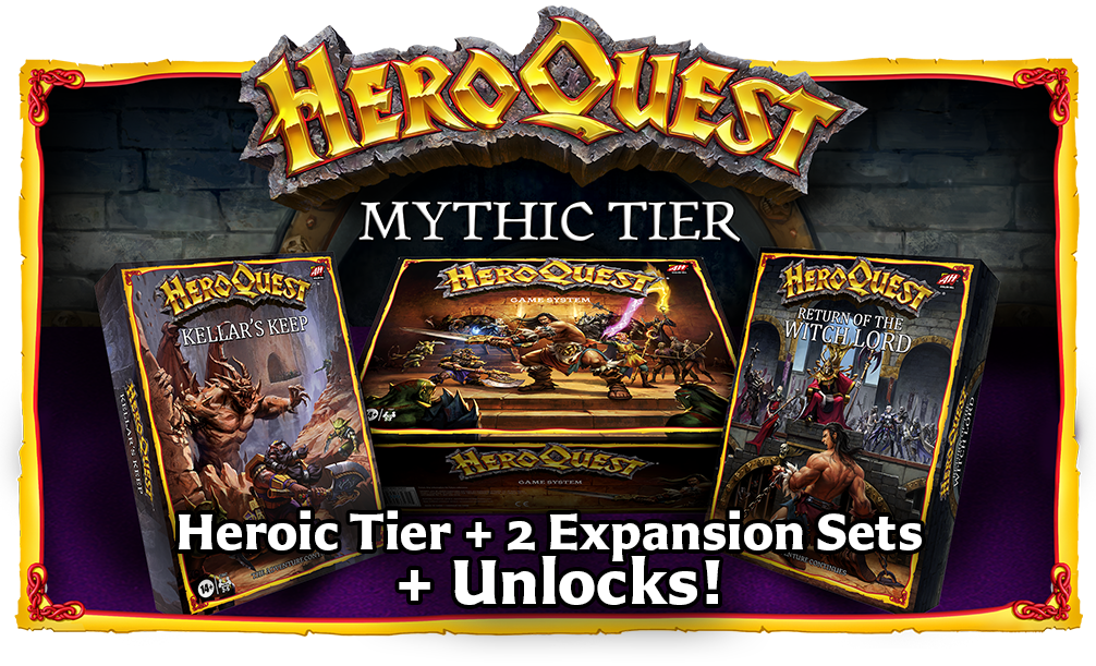 HeroQuest Crowdfunding Mythic Tier