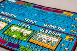 MTV Throwback Music Party Game Board