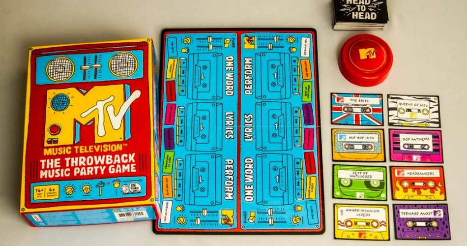 MTV Throwback Music Party Game Components