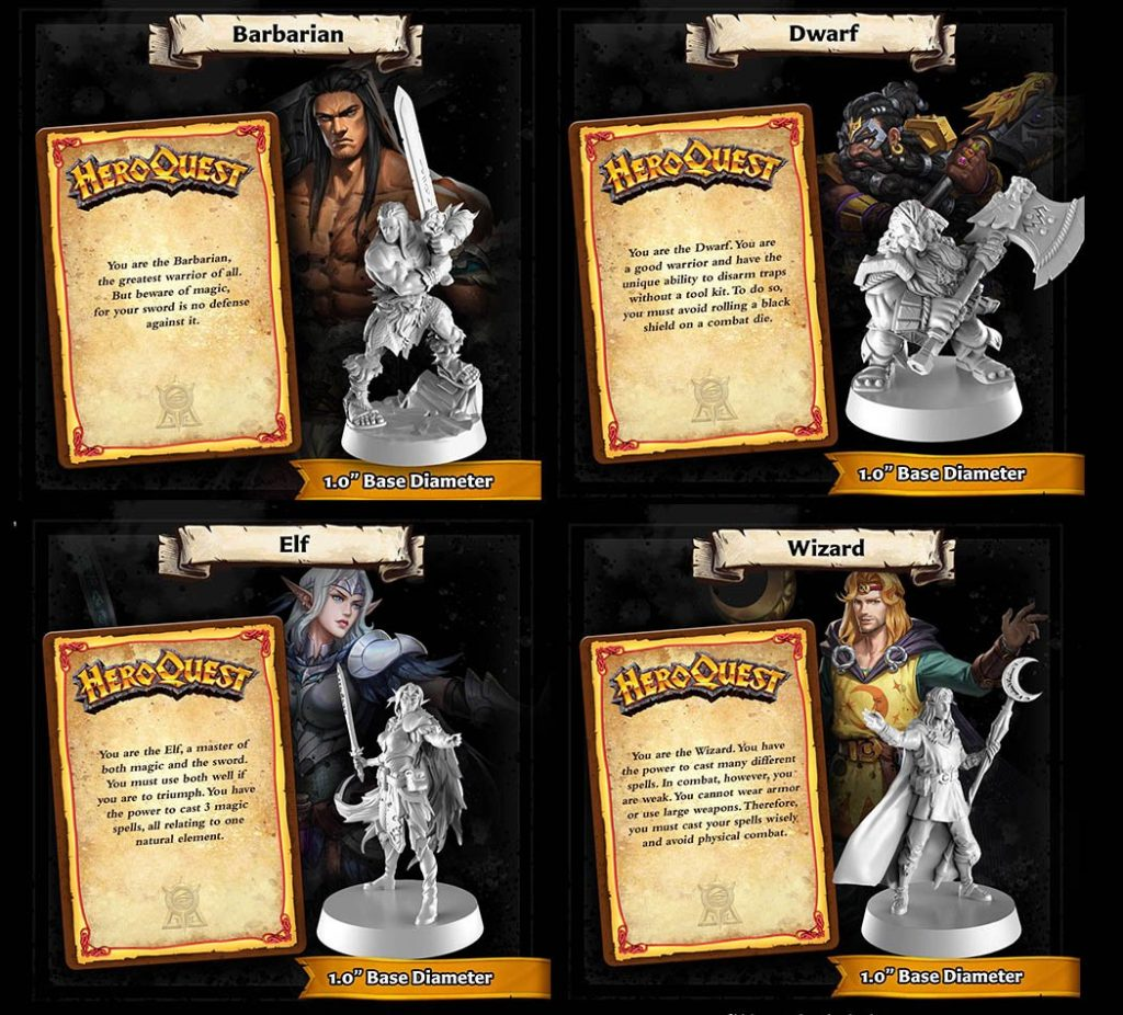 New HeroQuest Game Hero Characters