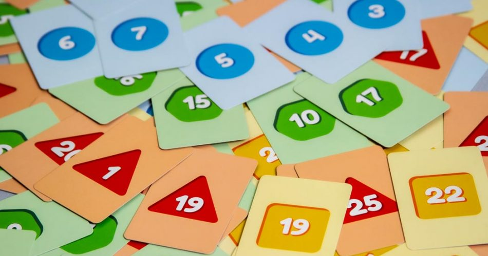Ripple Rush Board Game Number Cards