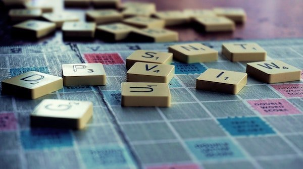 scrabble letter and board