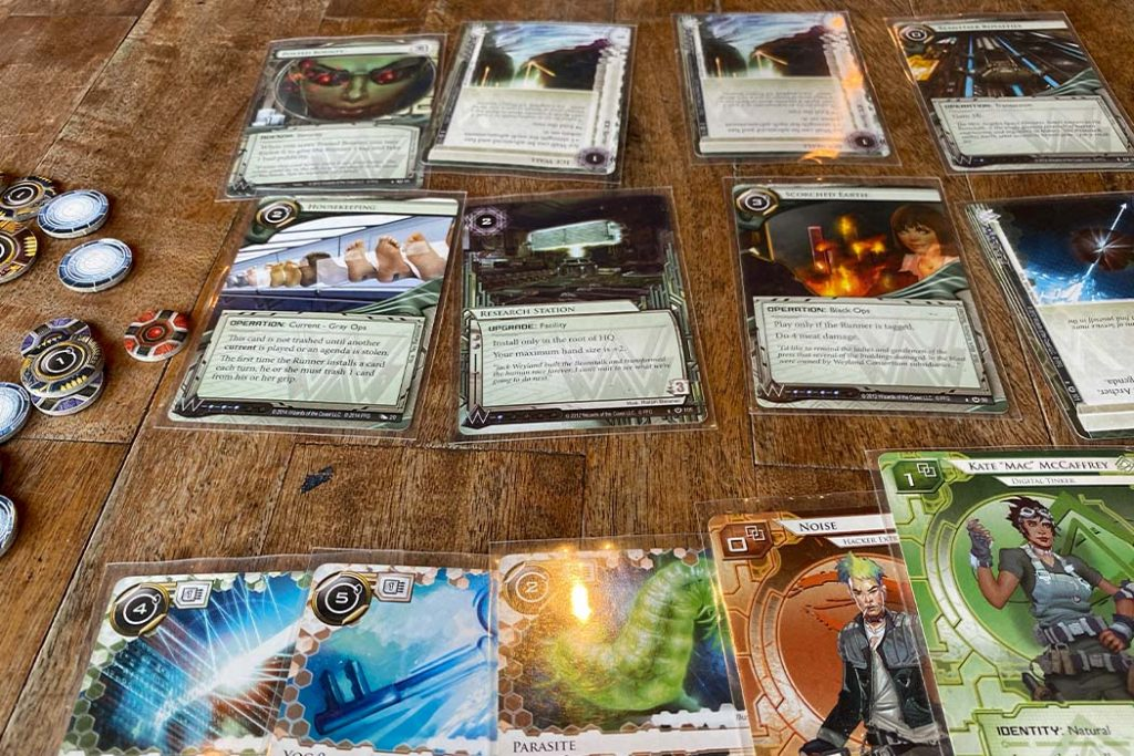 Android Netrunner Board Game Play