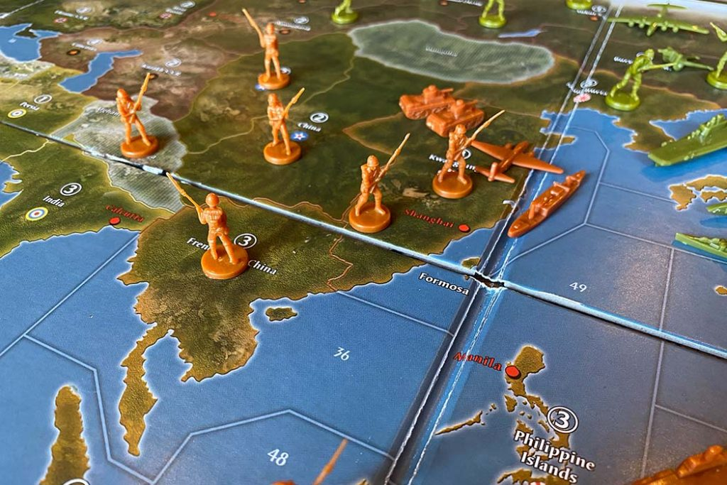 Axis and Allies Board Game Battle