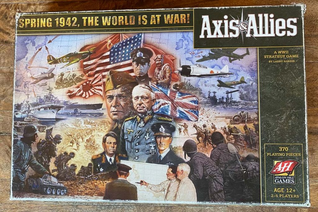 Axis and Allies Board Game Box Art