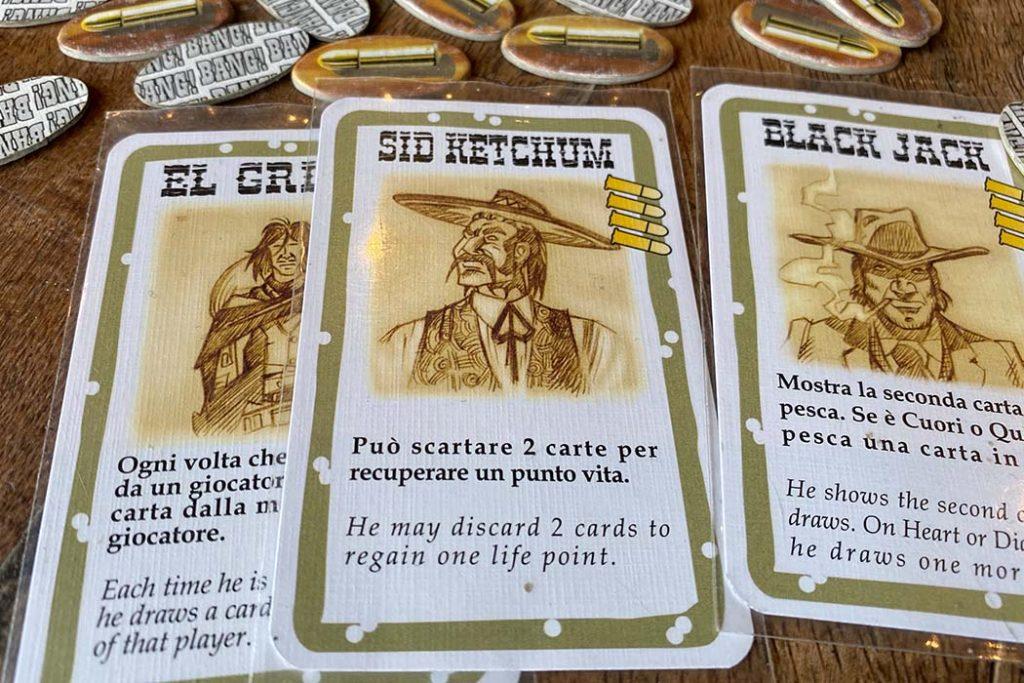 Bang Board Game Player Cards