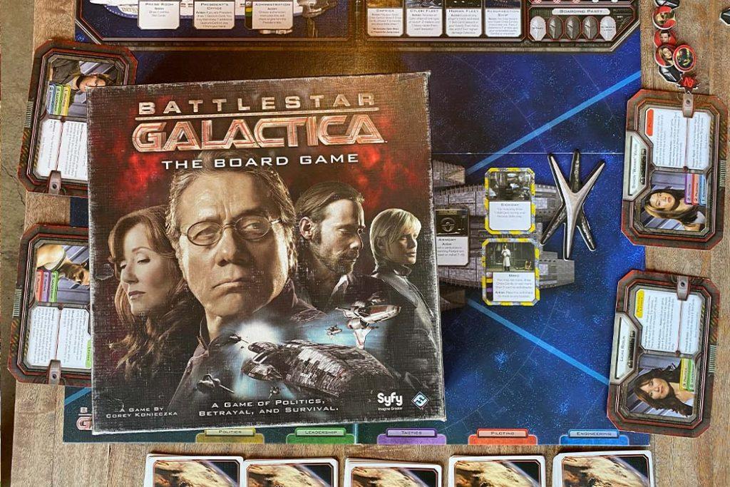 Battlestar Galactica Board Game Box Art