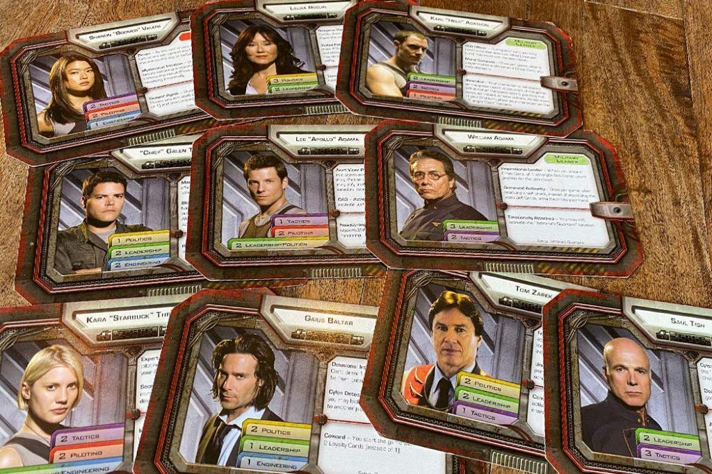 Battlestar Galactica Board Game Character Cards