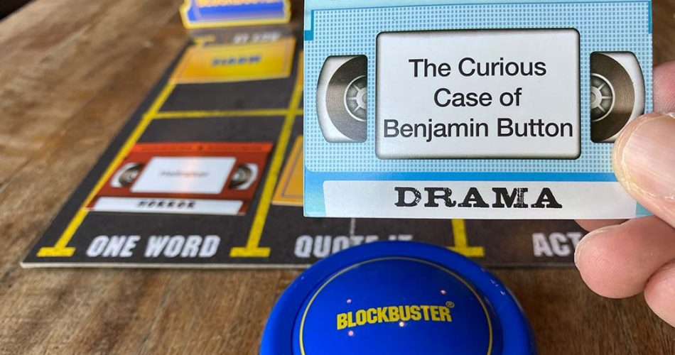 Blockbuster Board Game Movie Card