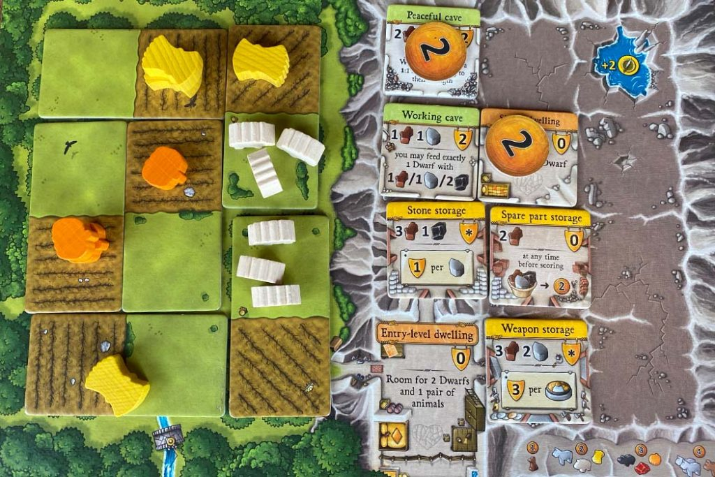 Caverna Board Game Player Card