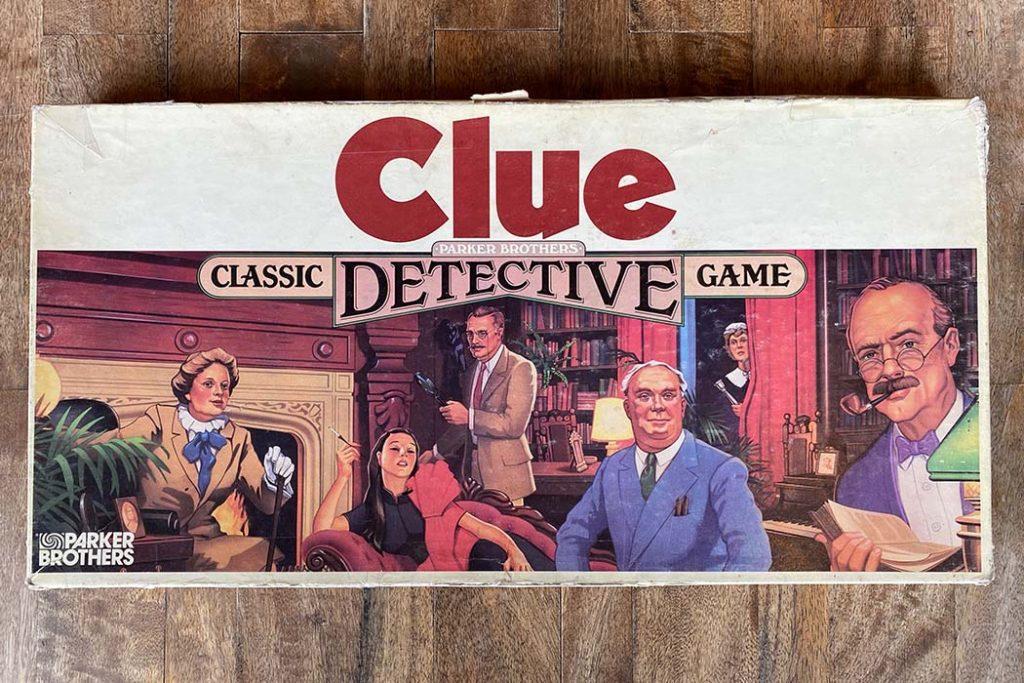 Clue Board Game Box Art