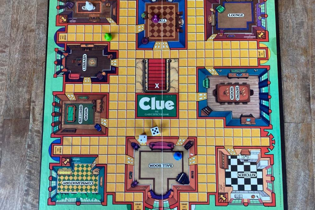 Clue Board Game Gameboard Overview