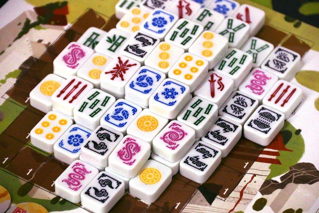 Dragon Castle Board Game Tile Stack