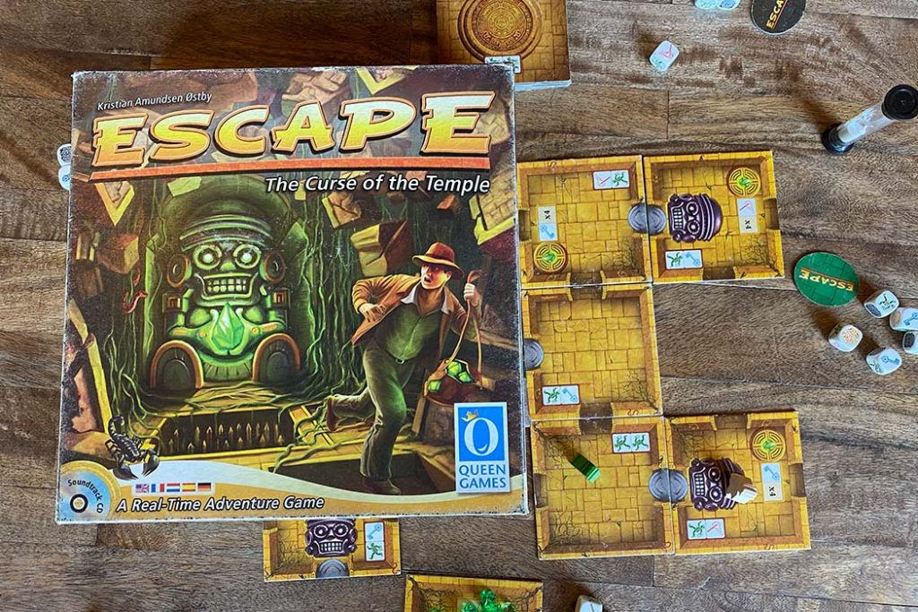Escape The Curse of the Temple Board Game Box Art