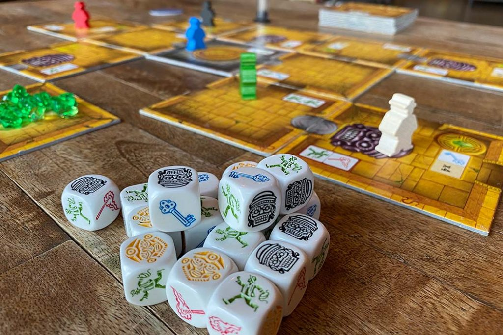 Escape The Curse of the Temple Board Game Dice