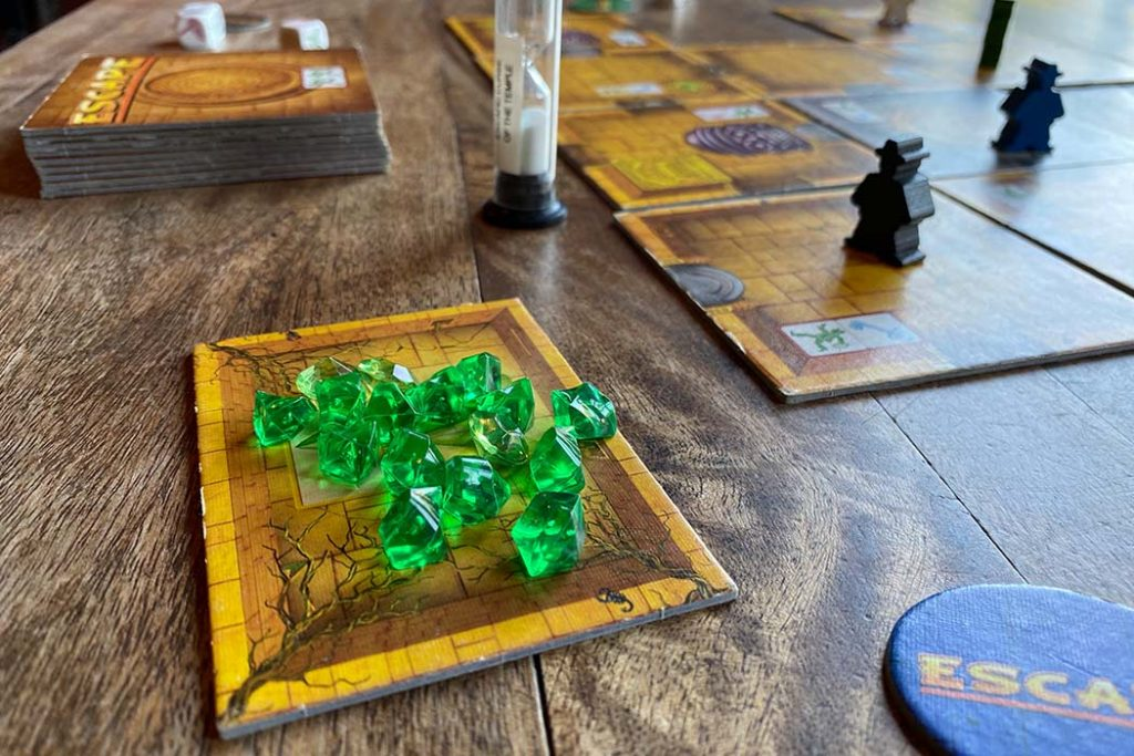 Escape The Curse of the Temple Board Game Gems